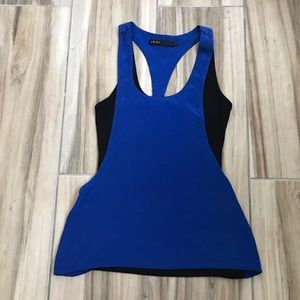 Two tone cut out cobalt top